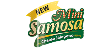 New Mini Samosa with Cheese Jalapeno Filling Logo