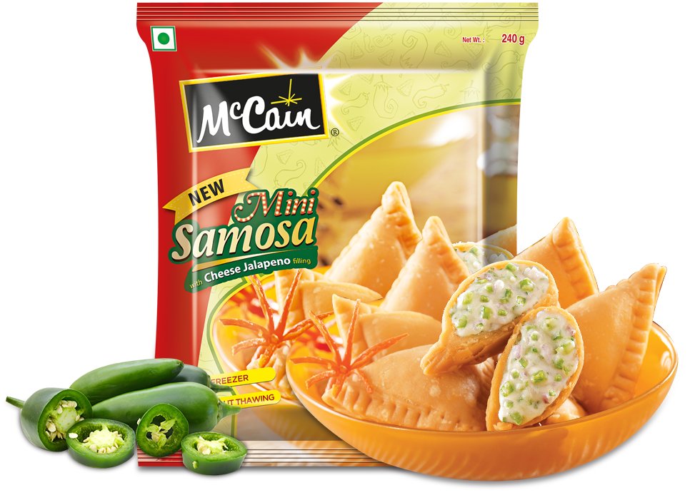 New McCain Mini Samosa with Cheese Jalapeno filling